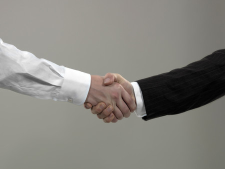 Business Men Shaking Hands, Close-Up 写真素材