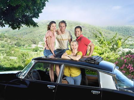 Four Friends In Car