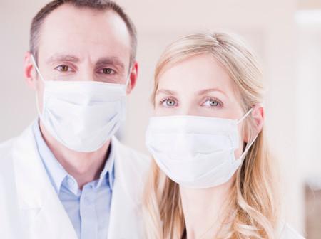 Two Medics Looking At Viewer