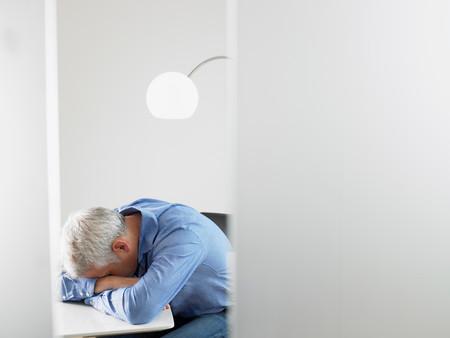 Man Asleep On His Desk
