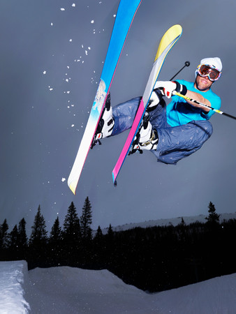 Guy Doing A Grab Mid Air Out Of A Lip