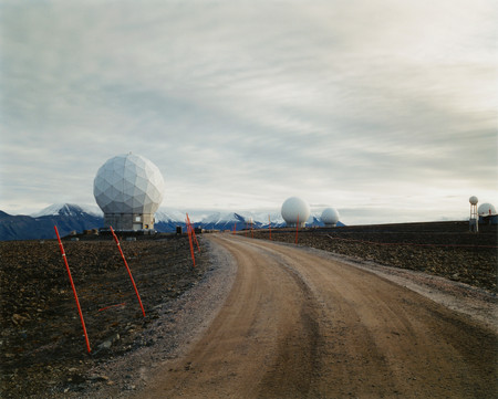 Road Leading To Arctic Research Station