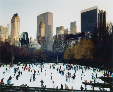 Ice-Skating In Central Park, New York