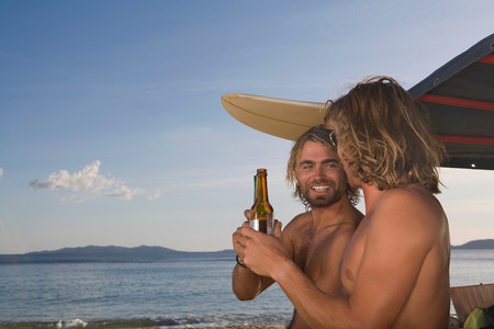 Surf Men Drinking Beer