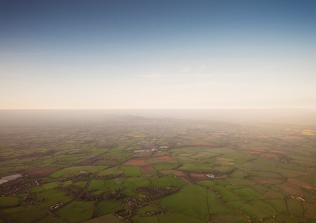 Aerial View Of Rural Farmlands Stock Photo