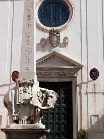 Bernini Elephant Sculpture, Santa Maria Sopra Minerva, Rome, Italy