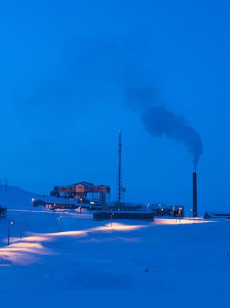 A Working Mine And Power Station On The Outskirts Of Longyearbyen. This Is The Largest Settlement On The Svalbard Archipelago In The Arctic Circle, Norway Stock Photo