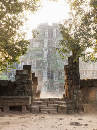 The Temple Of Prasat Thomat Koh Ker, Northern Cambodia Stock fotó