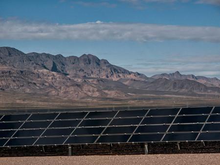 Solar Panels Under Blue Sky