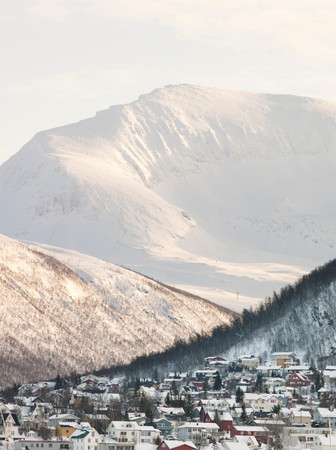 A View Of The Mountains Which Surround Tromso, Norway