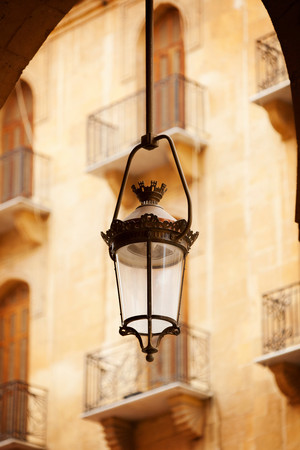 A Streetlight, Hanging Lantern, In The Recently Rebuilt Downtown Area, Containing Many Luxury Shops, Beirut, Lebanon Banco de Imagens