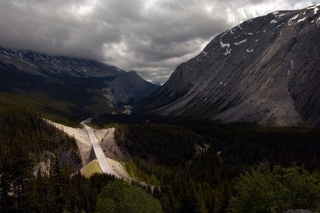 High View Point Of Icefields Parkway, British Colombia, Banff National Park, Canada, North America