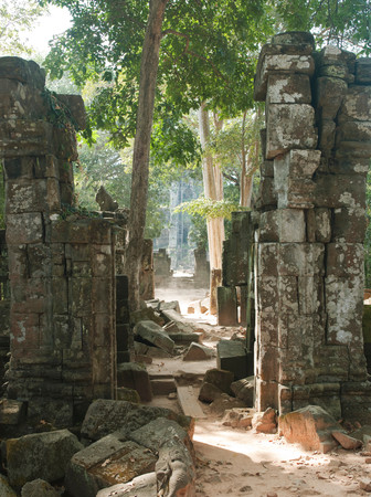 Ruins Of The Temples At Koh Ker, Northern Cambodia Stock fotó