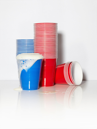 Red And Blue Plastic Cups