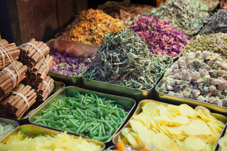 Spices And Fragrances For Sale At A Stall In A Souq In The Old City In Damascus, Syria Reklamní fotografie