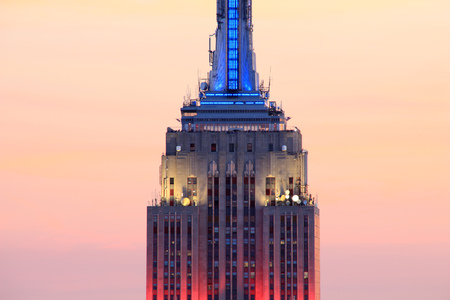 Close Up Of The Empire State Building At Dusk, New York, Usa