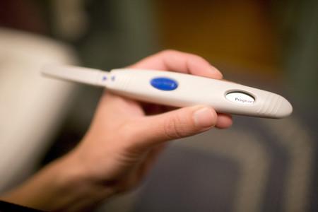 Woman Holding Pregnancy Test Stok Fotoğraf