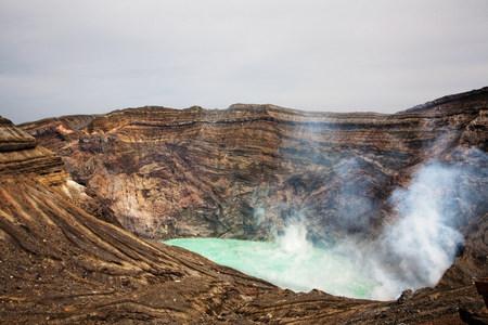 Nakadake Crater, Mount Aso, Kumamoto, Kyushu, Japan