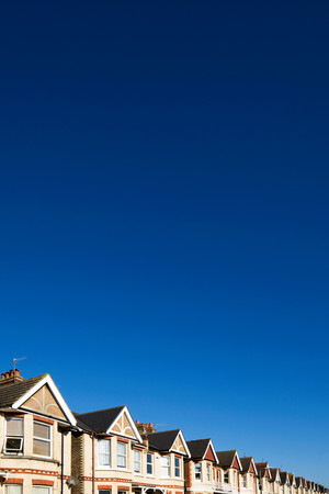 Street Of Houses And Blue Sky