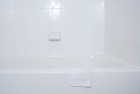White Bath And Face Cloth