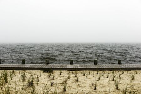 Beach, Boardwalk And Sea