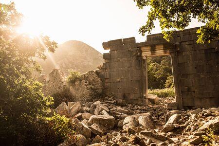 View Of Ruins, Olympos, Lycian Way, Turkey 写真素材