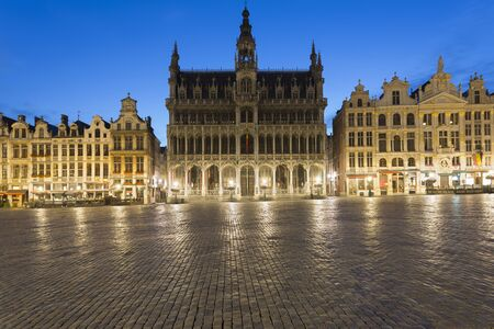 View Of Maison Du Roi At Dusk, Brussels, Belgium