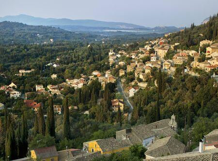 View Of Hilltown, Sardinia, Italy
