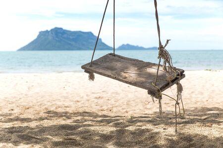 Beach Swing, Koh Samui, Thailand Stok Fotoğraf