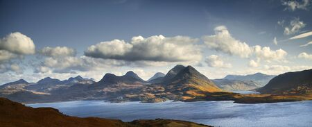 Clouds Above Torridon Hills And Loch, Highland, Scotland Imagens