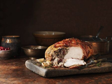 Turkey Crown Breast With Cranberry And Caramelised Chestnut Stuffing