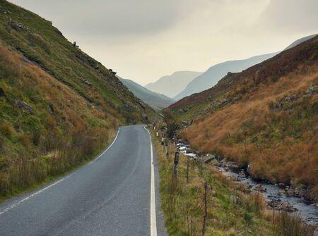 Rural Road, Powys, Wales