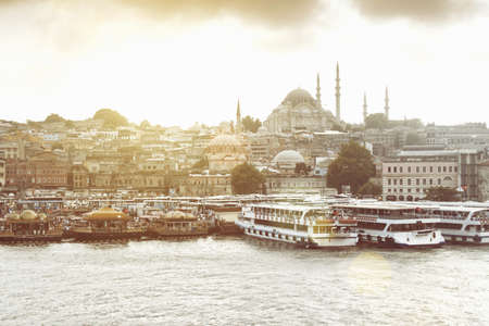 View Of Waterfront And Hagia Sophia Church, Istanbul, Turkey Editorial