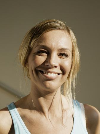 Woman, smiling, portrait, close-up