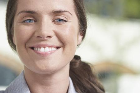 Close-Up portrait of Business woman.