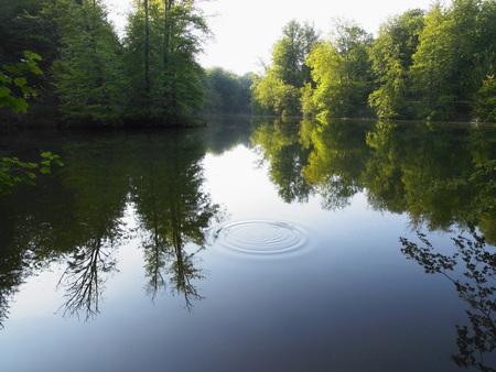 beautiful location: Riddle on a lake.
