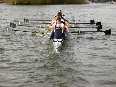Full eight rowing.