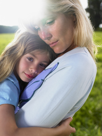 Mother and daughter portrait.