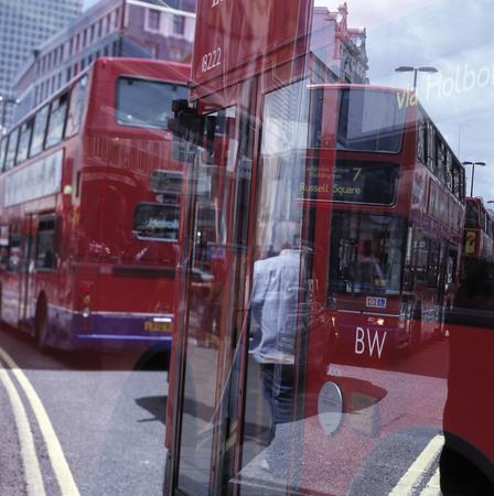 doubledecker: Double-decker buses in London.