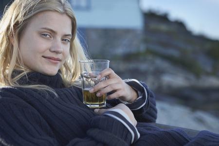get away: Young Woman relaxing.