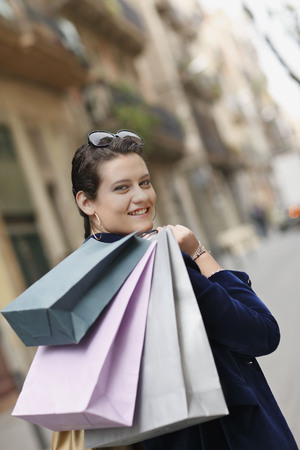 gals: Young woman with shopping bags
