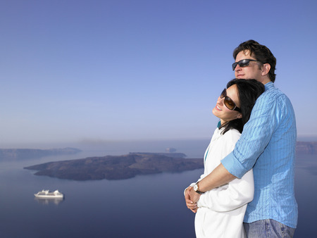honeymooner: Couple looking at the view