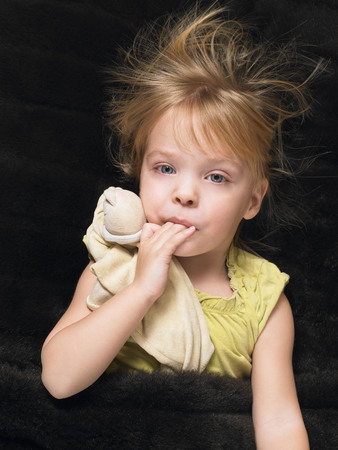 protects: Little girl resting