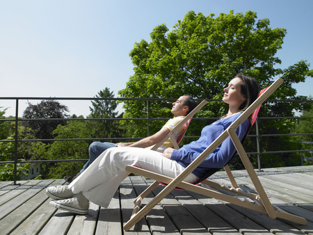 rejoices: Couple enjoying the sun