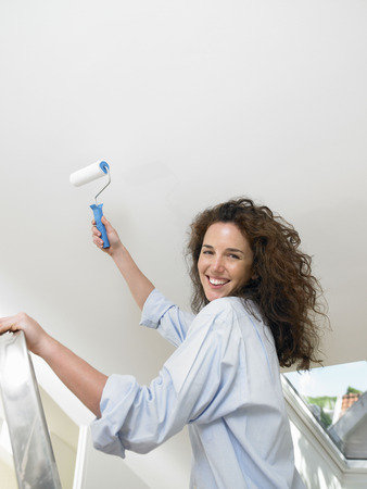 gals: Woman painting a wall