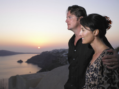 sightseers: Couple looking at the view