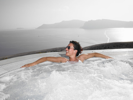 sooth: Woman in hot tub