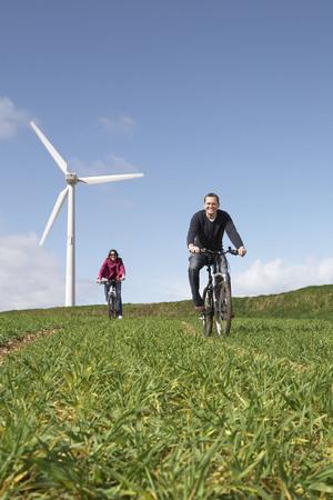 accountable: Couple riding bikes
