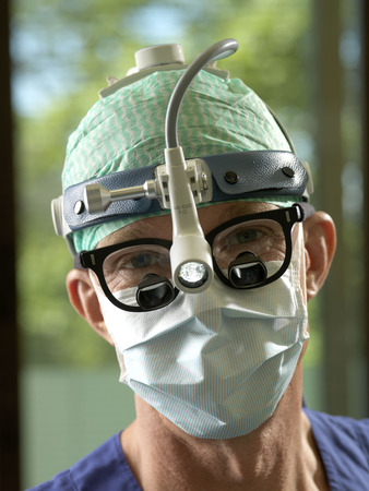 medical lighting: Surgeon, portrait