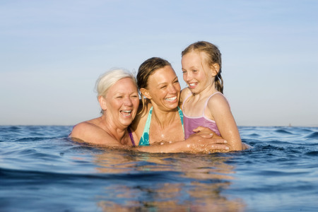 3 generations bathing